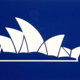 Asbjorn Lonvig Artwork Sydney Opera House, 2002 Collage, Abstract