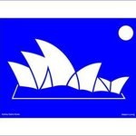 Sydney Opera House with printed passepartout By Asbjorn Lonvig