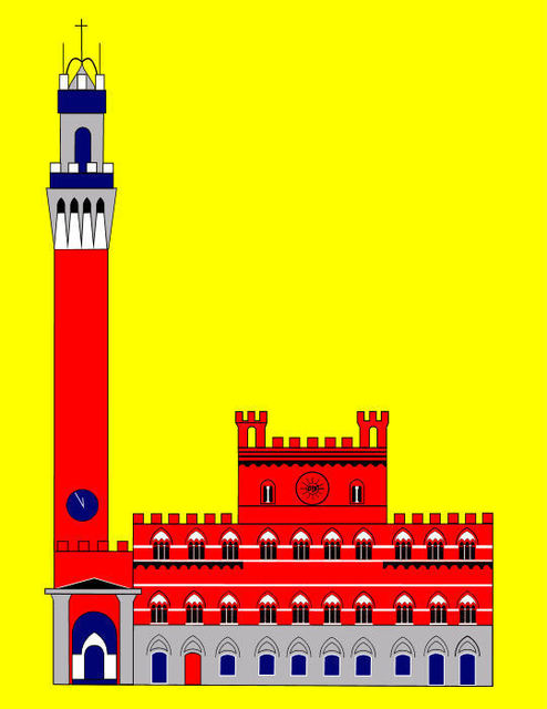 Asbjorn Lonvig  'The Palazzo Pubblico City Hall Of Siena Italy', created in 2009, Original Painting Other.