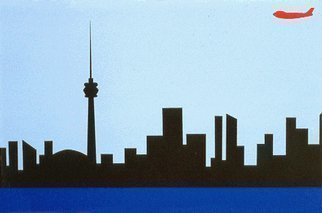Asbjorn Lonvig Artwork Toronto skyline, 1993 Toronto skyline, Abstract