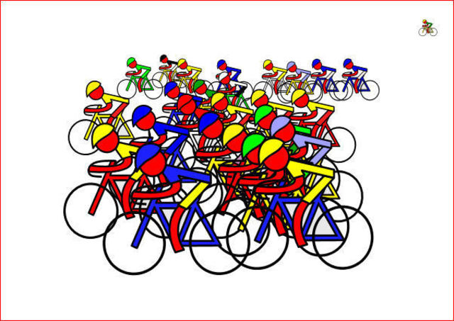 Asbjorn Lonvig  'Tour Vuelta Giro', created in 2010, Original Painting Other.
