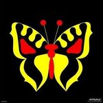 Yellow Butterfly print on paper or canvas By Asbjorn Lonvig
