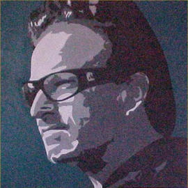 Asbjorn Lonvig: 'bono', 2000 Acrylic Painting, Portrait. Artist Description: By Morten Lonvig, my eldest son. My role in this is being a consultant and being proud. By means of the newest technology and ancient portrait art using computer, paintbrush and acrylic on canvas Morten has developed his own very unique style in portrait painting. As an assignment ...