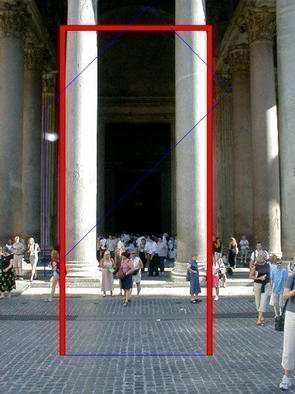 Asbjorn Lonvig: 'heavens door for lovers', 2003 Steel Sculpture, Abstract. At Pantheon at Piazza del Rotondo, Rome.In 2002 I investigated the