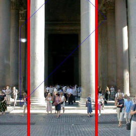 Asbjorn Lonvig: 'heavens door for lovers', 2003 Steel Sculpture, Abstract. Artist Description: At Pantheon at Piazza del Rotondo, Rome.In 2002 I investigated the