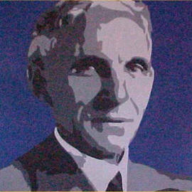 Asbjorn Lonvig: 'henry ford', 2000 Acrylic Painting, Portrait. Artist Description: By Morten Lonvig, my eldest son. My role in this is being a consultant and being proud. By means of the newest technology and ancient portrait art using computer, paintbrush and acrylic on canvas Morten has developed his own very unique style in portrait painting. As an assignment ...