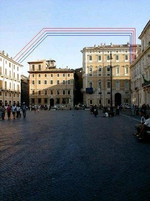 Asbjorn Lonvig: 'sky of nuvona', 2003 Steel Sculpture, Abstract. Piazza Nuvona, Rome.In 2002 I investigated the