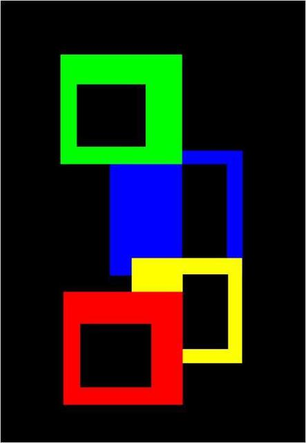 Asbjorn Lonvig  'Square Atoms', created in 2003, Original Painting Other.