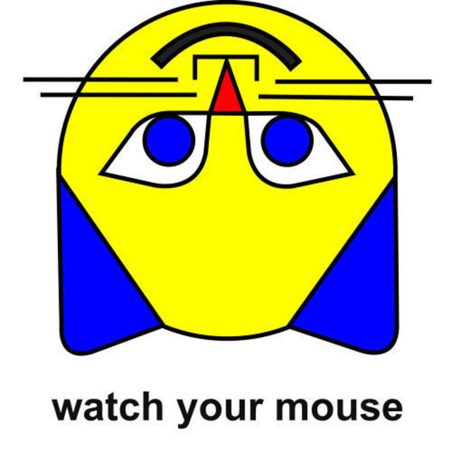 Asbjorn Lonvig  'Watch Your Mouse', created in 2007, Original Painting Other.