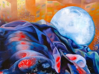 Lorie Ofir  Artwork Lunar Tide, 2012 Oil Painting, Abstract Landscape