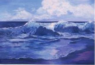 Lorrie Williamson: 'In Awe of Color and Motion', 2001 Acrylic Painting, Seascape. Acrylic on illustration board. 5 inch mat....