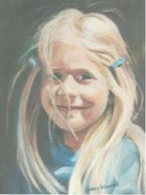 Lorrie Williamson  'Sample Portrait Of Alissa', created in 1995, Original Pastel Oil.