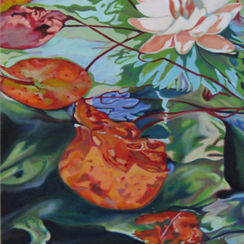 Claudette Losier Artwork Be Still , 2012 Oil Painting, Floral