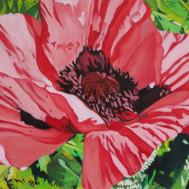 Claudette Losier: 'Opening Up To Beauty', 2009 Oil Painting, Floral.