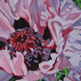Claudette Losier Artwork Silver Lining, 2011 Oil Painting, Floral