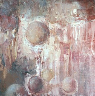 Louise Weinberg: 'SphereSeries21', 2008 Oil Painting, Undecided.  Spheres floating in space ...