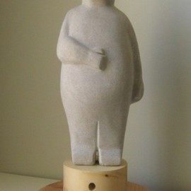 Lou Lalli Artwork Feed Me III, 2009 Stone Sculpture, Figurative