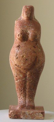 Lou Lalli: 'Paleovenus I', 2007 Stone Sculpture, Figurative. Artist Description:     Persian travertine   ...