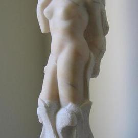Lou Lalli: 'Primavera', 1996 Stone Sculpture, Figurative. Artist Description: Portuguese pink marble...
