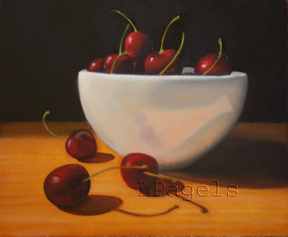 Artist: Laurie Pagels - Title: Bowl of Cherries - Medium: Oil Painting - Year: 2008