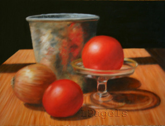 Artist: Laurie Pagels - Title: Garden Bounty - Medium: Oil Painting - Year: 2008
