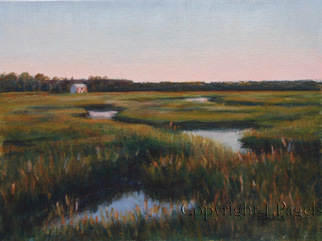 Landscape Acrylic Painting by Laurie Pagels Title: Wetlands, created in 2010