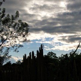Laurie Delaney: 'Broken Fences', 2011 Color Photograph, Landscape. Artist Description: Honduras, sunset silhouette...