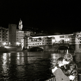 Laurie Delaney: 'Passion', 2011 Black and White Photograph, Love. Artist Description: Florence, romance, kissing, love. ...