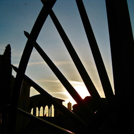Laurie Delaney: 'Roma Antica', 2011 Color Photograph, Landscape. Artist Description: Rome, sunset silhouette, travel. ...