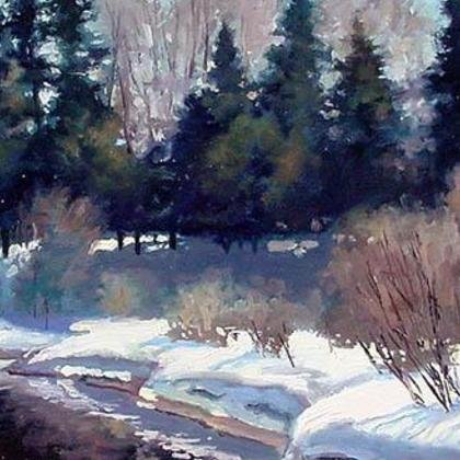 , Last Snows Of Ginny Creek, Landscape, $788