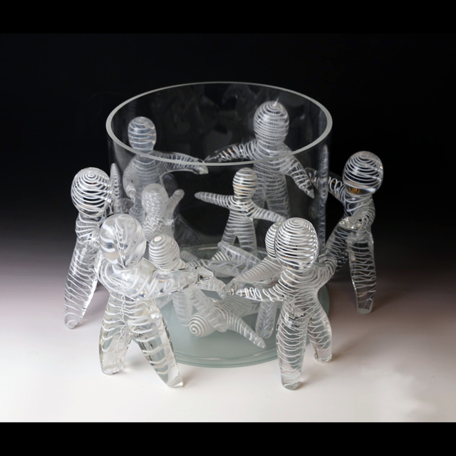 Lawrence Tuber  'Separation', created in 2020, Original Sculpture Glass.