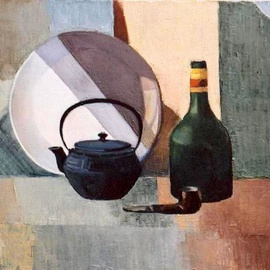 Lubov Meshulam Lemkovitch: 'Still life', 2004 Oil Painting, Still Life.