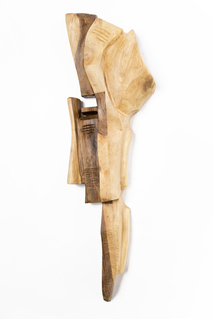 Blazej Siplak: head n 7, 2017 Wood Sculpture