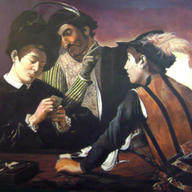 Camilo Lucarini: 'Homage to Caravaggio', 2014 Oil Painting, Figurative. Artist Description:  It is the reproduction of the famous painting