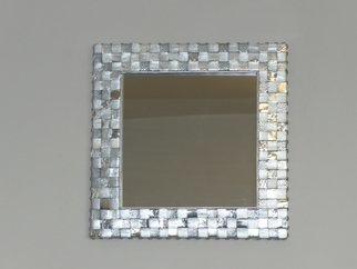Evelyne Parguel Artwork Silver mirror, 2015 Leather, Home
