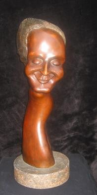 Luc Bihan: 'Serenity', 2002 Bronze Sculpture, Portrait. I'm a figment of Luc's imaginationA patina of spiritual radiationInspired by the impression of his second wife who stood by his side for 8 years in life. I was the second sculpture made by him in TorontoI represent a light life, floating, and coping canto....