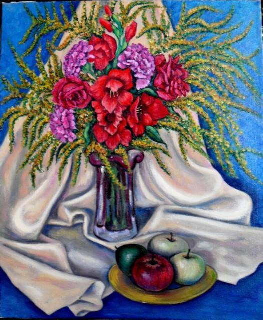 Ludmila Sorokina  'Autumn Bouquet', created in 2012, Original Painting Other.