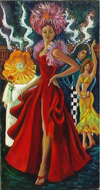 Artist Ludmila Sorokina. 'Carnival' Artwork Image, Created in 2005, Original Painting Other. #art #artist