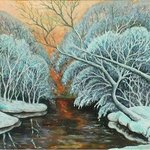 winter evening By Ludmila Sorokina