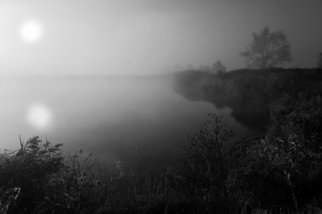 Bernhard Luettmer: 'Der Nebel III', 2010 Black and White Photograph, Philosophy. Artist Description:                               Landscape in Tuscany/ Landscape, italy, tuscany, morning, totady, tree, architecture, places                              ...
