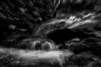 Bernhard Luettmer: 'SCHWARZES WASSER VII', 2010 Black and White Photograph, Abstract Landscape.                         Landscape in Tuscany/ Landscape, italy, tuscany, morning, totady, tree,                        ...