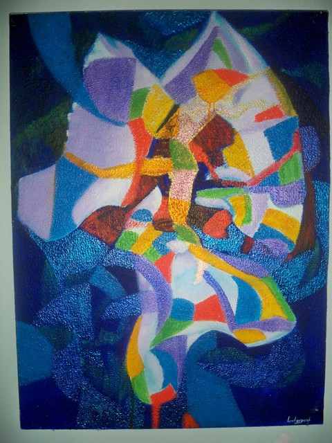 Luis Burgos  'Composition', created in 2006, Original Painting Acrylic.