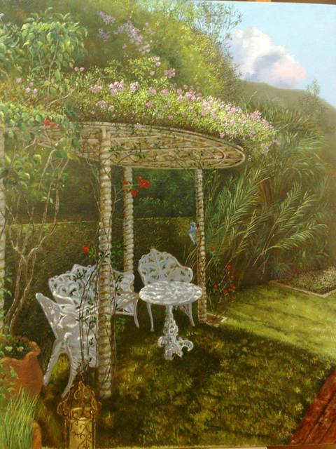 Luiz Henrique Azevedo  'A Nook With An Arbor In Itaipava', created in 2013, Original Painting Oil.