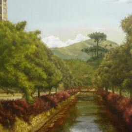 Petropolis view painting By Luiz Henrique Azevedo