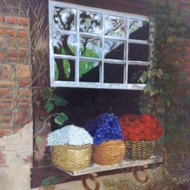 Luiz Henrique Azevedo: 'Window with vessels', 2003 Oil Painting, Interior. Artist Description: A poetry about the way we see the life. ...