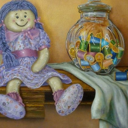 , Rag Doll, Still Life, $807