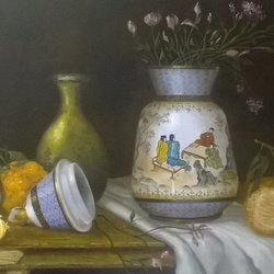 , The Chinese Vase In My Pa, Still Life, $766