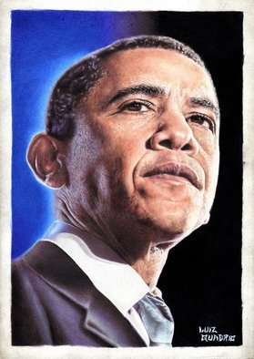 Luiz Quadrio: 'President Obama  Colored pencils1', 2009 Pencil Drawing, People. Hyper Realism in 100% color pencilsThis work was made only with colored pencils of brand brazilian Faber Castell colored pencils ( not aquarelle pencils) ....