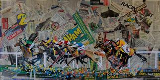 Collage by Tom Lund-lack titled: All About Winning, created in 2012