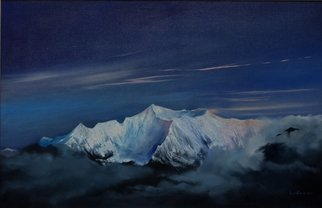 Tom Lund-lack: 'Anapurna', 2011 Oil Painting, Mountains. Artist Description:     The magnificent Annapurna mountain painted on commission for a friend who lived in Nepal and feel in love with the mountain and all its majestic grandeur ...